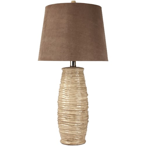 Signature Design by Ashley Lamps - Contemporary Set of 2 Haldis Table Lamps