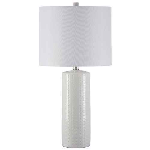 Signature Design by Ashley Lamps - Contemporary Set of 2 Steuben Ceramic Table Lamps