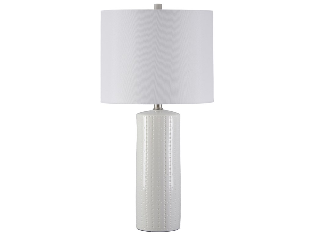 Signature Design by Ashley Lamps - ContemporarySet of 2 Steuben Ceramic Table Lamps