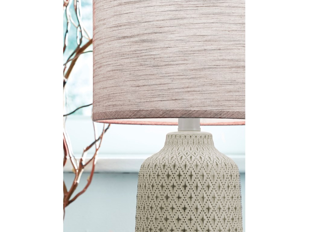 Signature Design by Ashley Lamps - ContemporaryDonnford Brown Ceramic Table Lamp