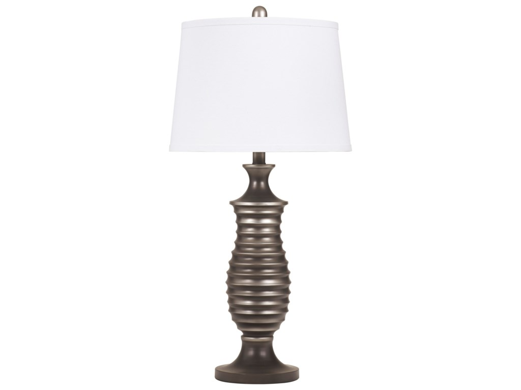 Signature Design Lamps - ContemporarySet of 2 Rory Metal Table Lamps