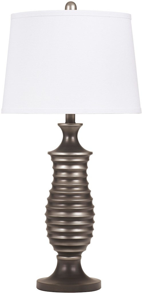 Signature design by ashley lamps contemporary set of 2 rory metal table lamps