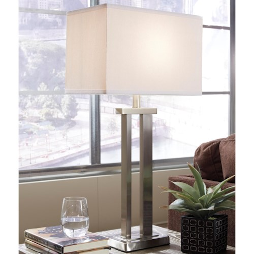 Signature Design by Ashley Lamps - Contemporary Set of 2 Aniela Metal Table Lamps
