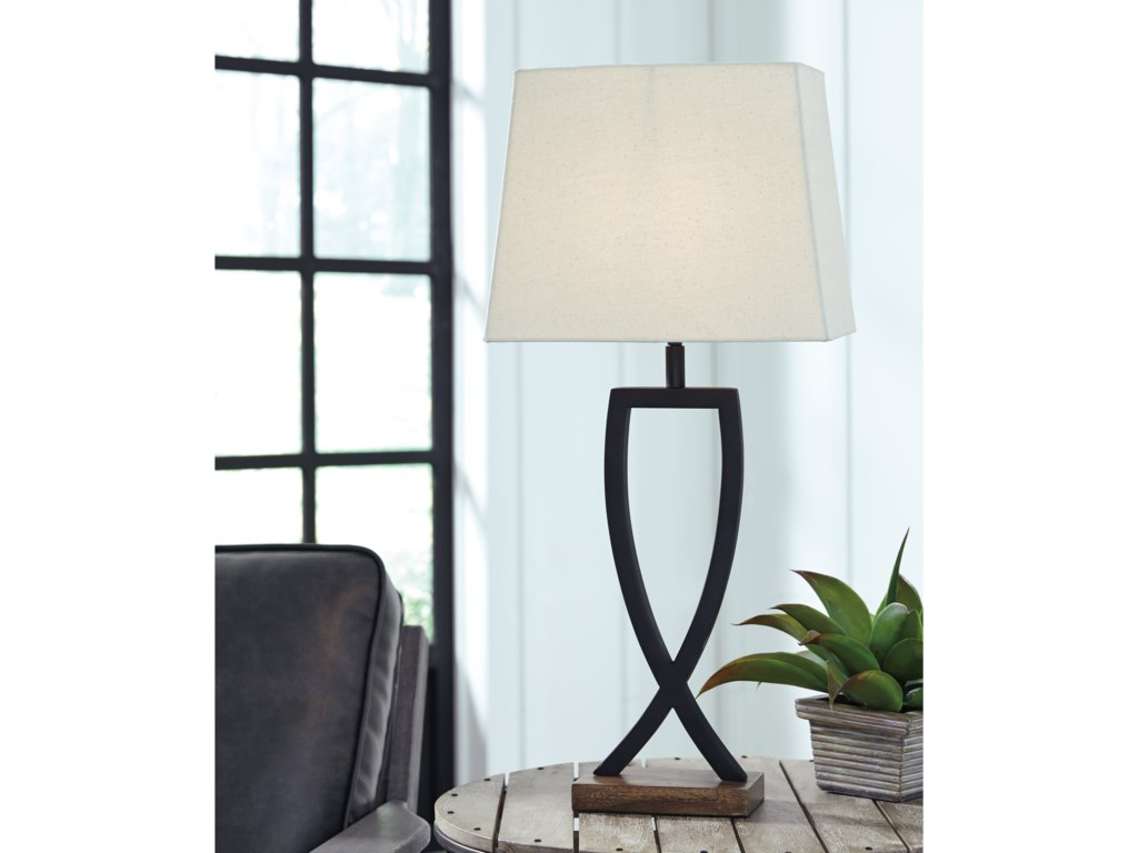 Signature Design by Ashley Lamps - ContemporarySet of 2 Makara Metal Table Lamps