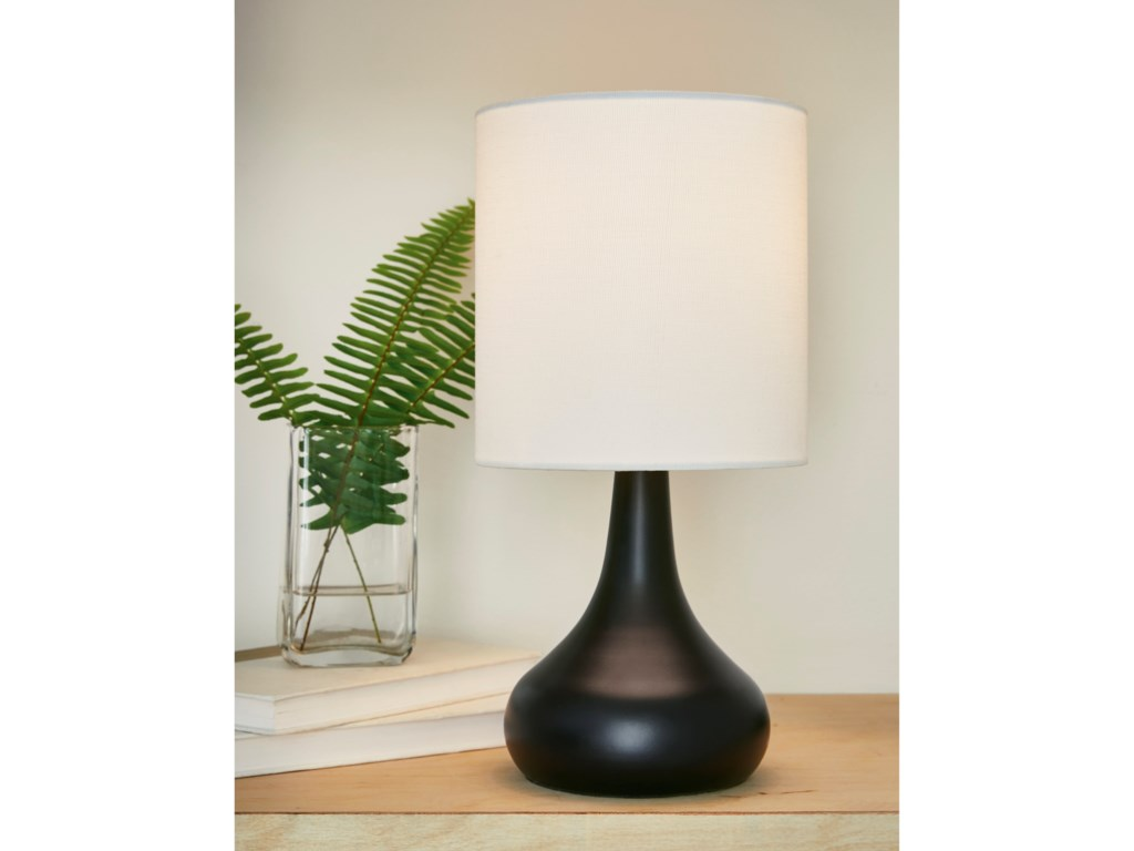 Signature Design by Ashley Lamps - ContemporaryCamdale Black Metal Table Lamp