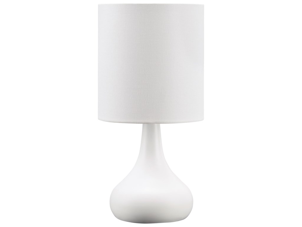 Signature Design by Ashley Lamps - ContemporaryCamdale White Metal Table Lamp