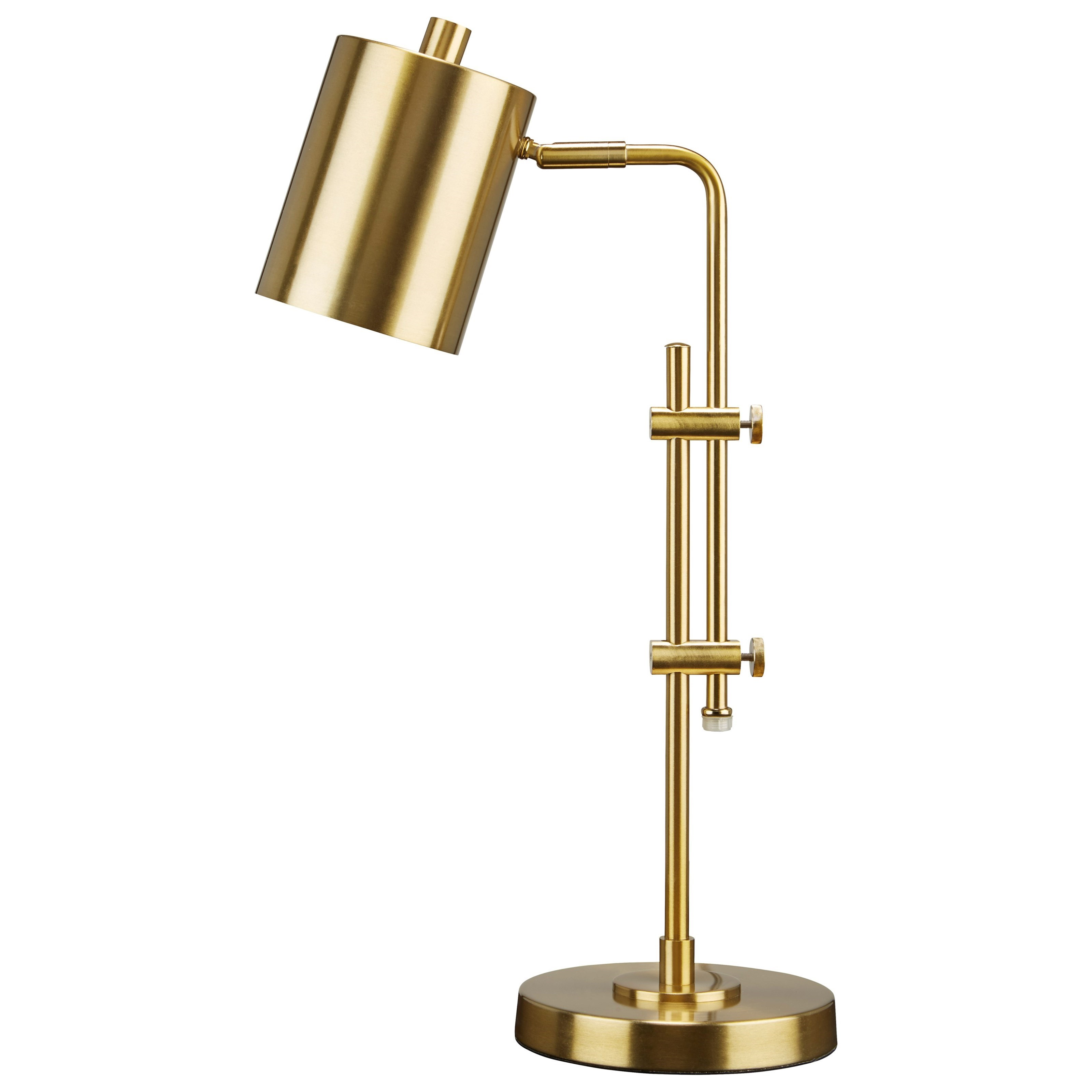 Baronvale Brass Finish Metal Desk Lamp