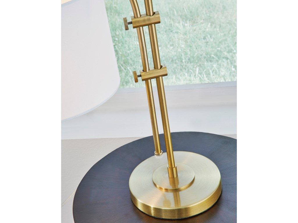 Signature Design by Ashley Lamps - ContemporaryBaronvale Brass Finish Metal Accent Lamp