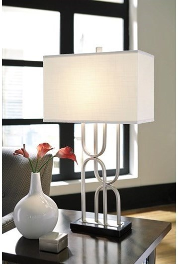Signature design by ashley lamps contemporary darielle table lamp