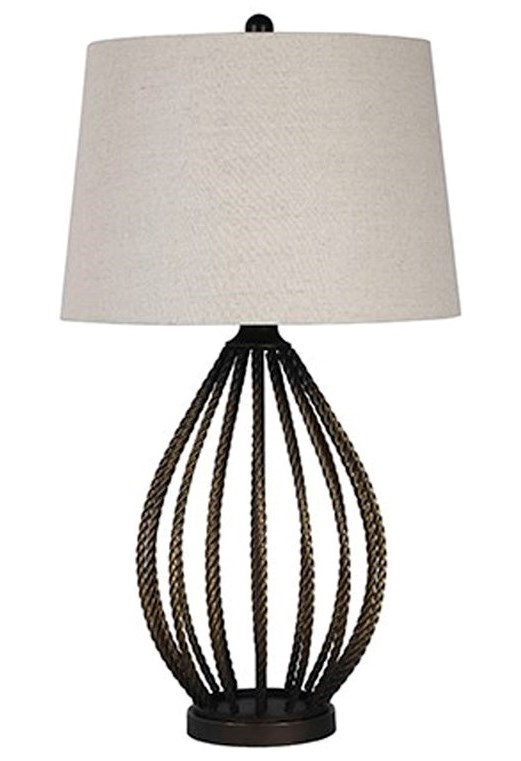 Signature Design by Ashley Lamps - ContemporaryDarrius Metal Table Lamp