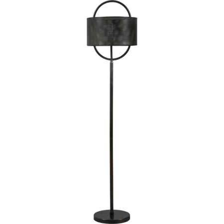 Majed Bronze Finish Metal Floor Lamp