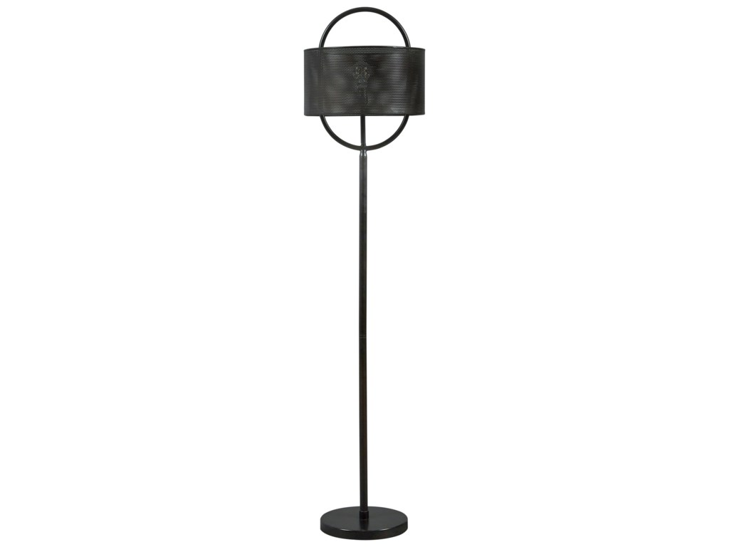 Signature Design by Ashley Lamps - ContemporaryMajed Bronze Finish Metal Floor Lamp