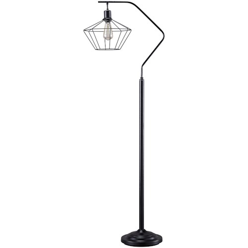 Signature Design By Ashley Lamps Contemporary Makeika Black Metal