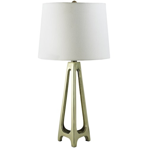 Signature Design by Ashley Lamps - Contemporary Set of 2 Howard Gold Finish Metal Table Lamps