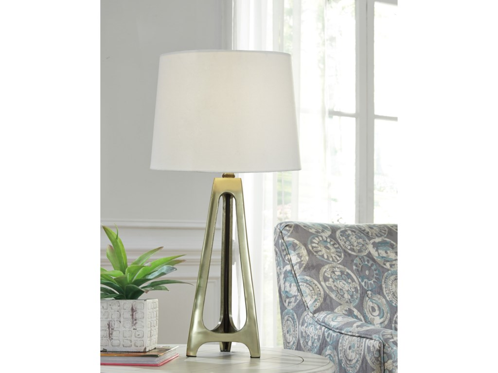 Signature Design by Ashley Lamps - ContemporarySet of 2 Howard Metal Table Lamps