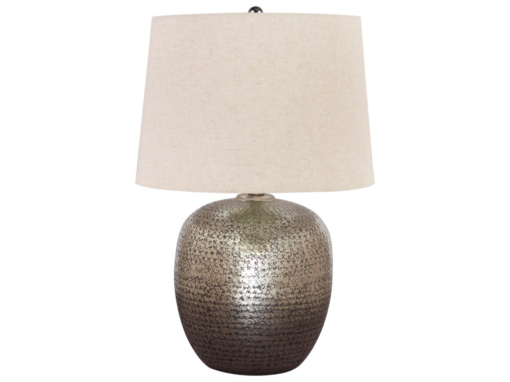 Signature Design by Ashley Lamps - ContemporaryMagalie Antique Silver Metal Table Lamp