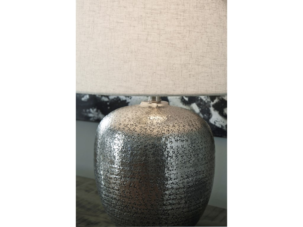 Ashley (Signature Design) Lamps - ContemporaryMagalie Antique Silver Metal Table Lamp