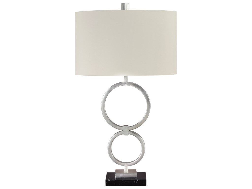 Signature Design by Ashley Lamps - ContemporarySet of 2 Mansoor Silver Metal Table Lamps