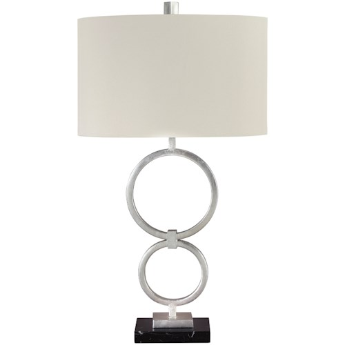 Signature Design by Ashley Lamps - Contemporary Set of 2 Mansoor Silver Finish Metal Table Lamps