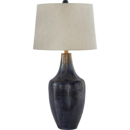 Evania Indigo Metal Table Lamp