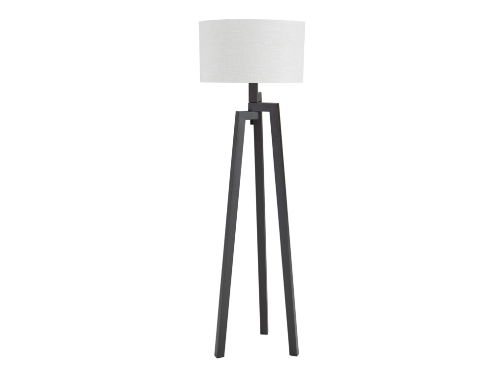 Signature Design By Ashley Lamps Contemporary Metal Floor Lamp