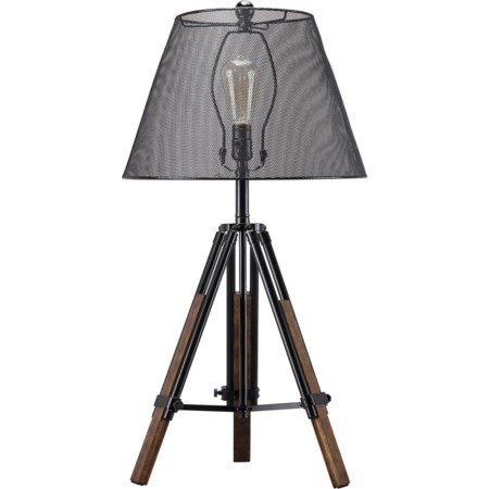 Leolyn Black/Brown Metal Table Lamp