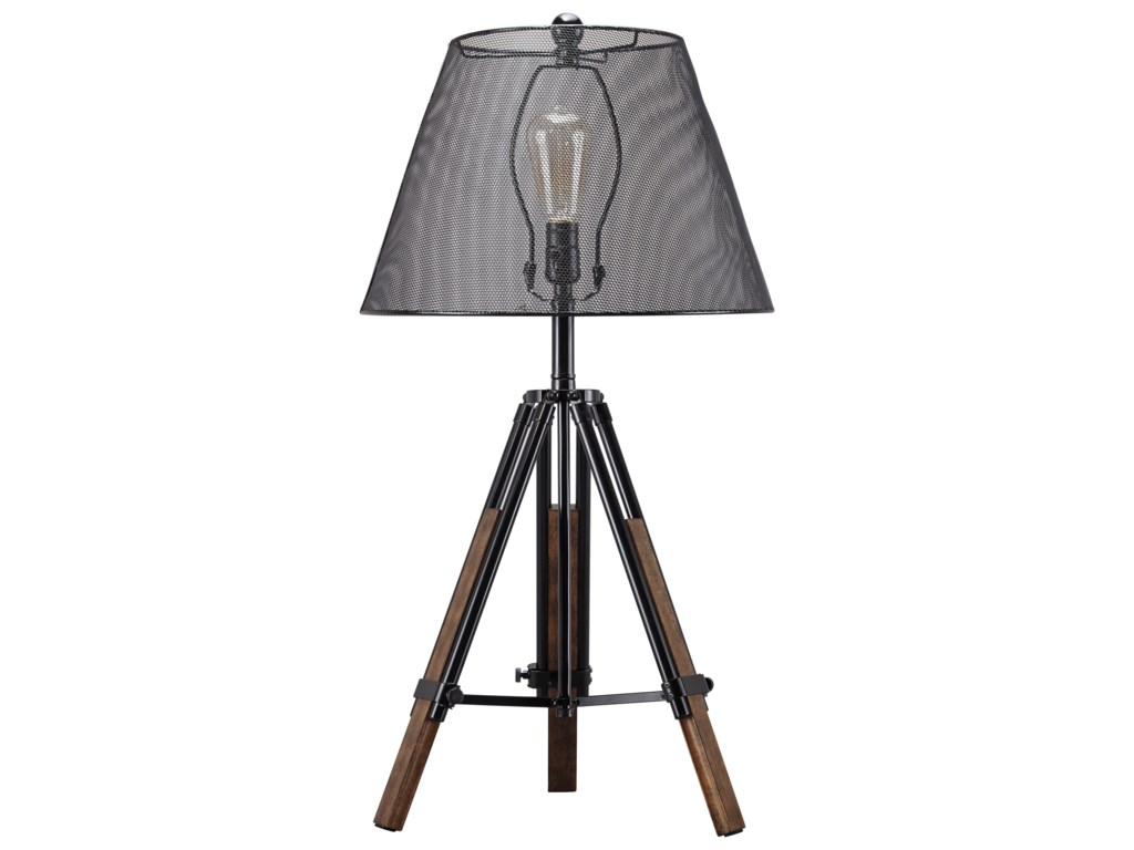 Signature Design By Ashley Lamps Contemporary L207994 Leolyn Black
