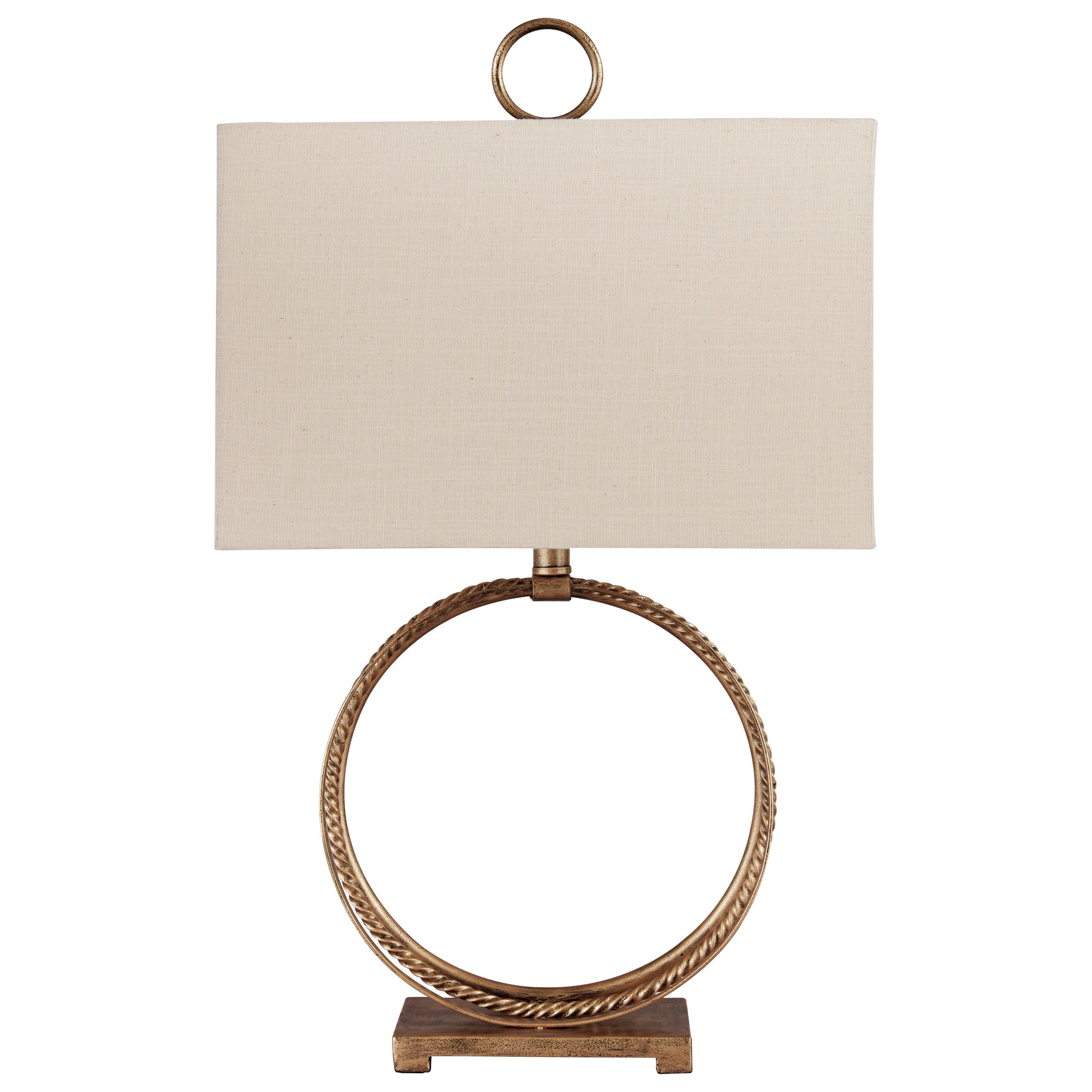 Mahala Antique Gold Metal Table Lamp