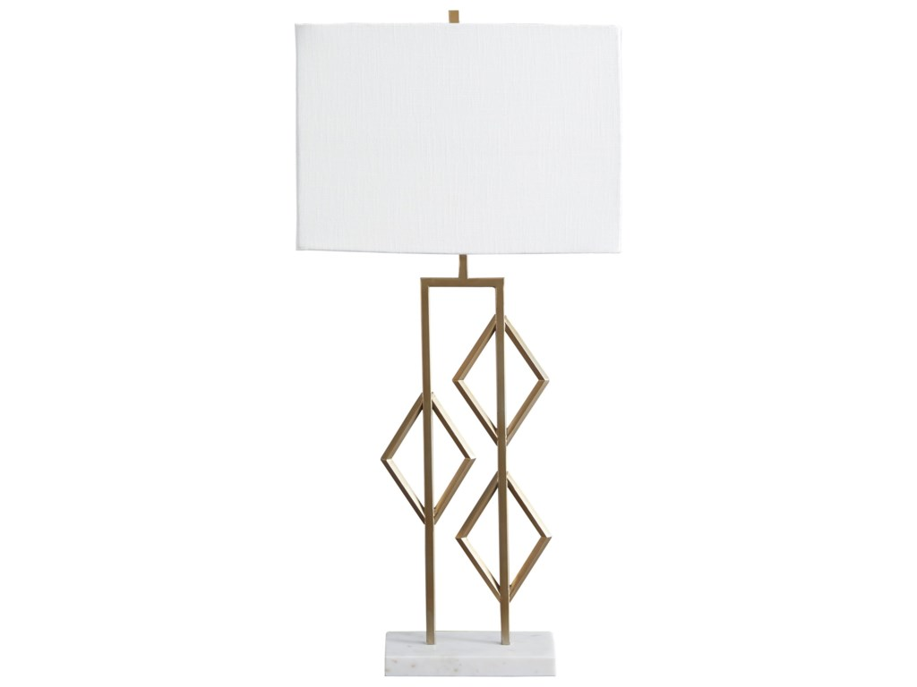 Signature Design by Ashley Lamps - ContemporaryEdsel Champagne Metal Table Lamp