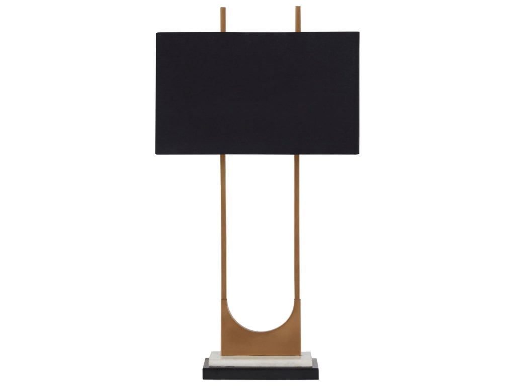 Signature Design by Ashley Lamps - ContemporaryMalana Brass Finish Metal Table Lamp