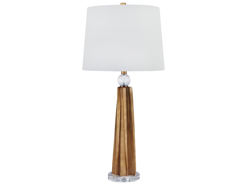 Signature Design by Ashley Lamps - ContemporarySet of 2 Engla Antique Gold Finish Lamps