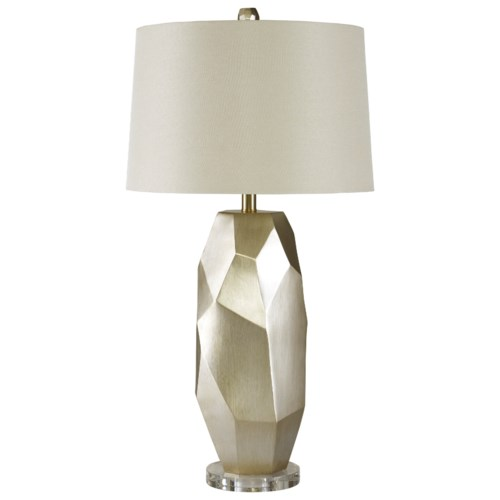 Signature design by ashley lamps contemporary darda silver poly table lamp