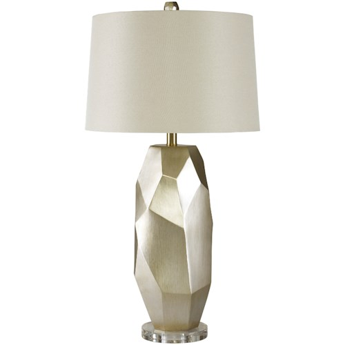 Signature Design by Ashley Lamps - Contemporary Darda Silver Poly Table Lamp