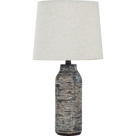 Set of 2 Mahima Black/White Table Lamps