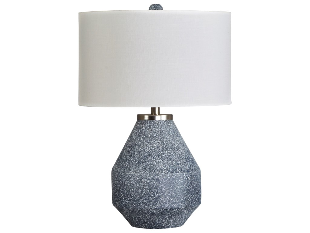 Signature Design by Ashley Lamps - ContemporaryKristeva Blue Metal Table Lamp