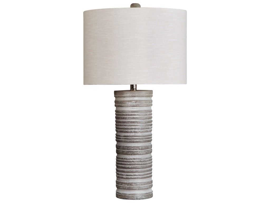 Signature Design by Ashley Lamps - ContemporarySet of 2 Nadyia Gray Table Lamps