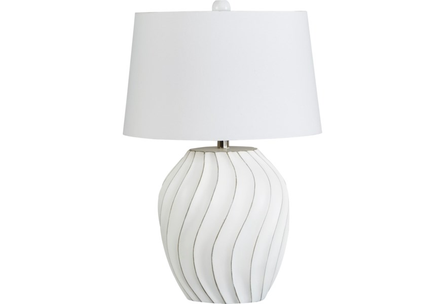 Lamps Contemporary Hidago White Paper Table Lamp By Signature Design At Fisher Home Furnishings
