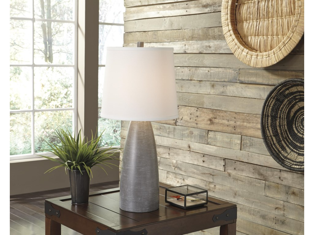 Signature Design by Ashley Lamps - ContemporarySet of 2 Shavontae Poly Table Lamps