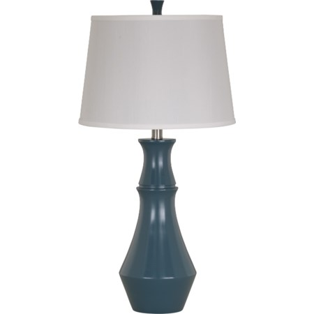 Set of 2 Sirilla Blue Poly Table Lamps
