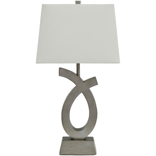 Signature Design by Ashley Lamps - Contemporary Set of 2 Amayeta Poly Table Lamps