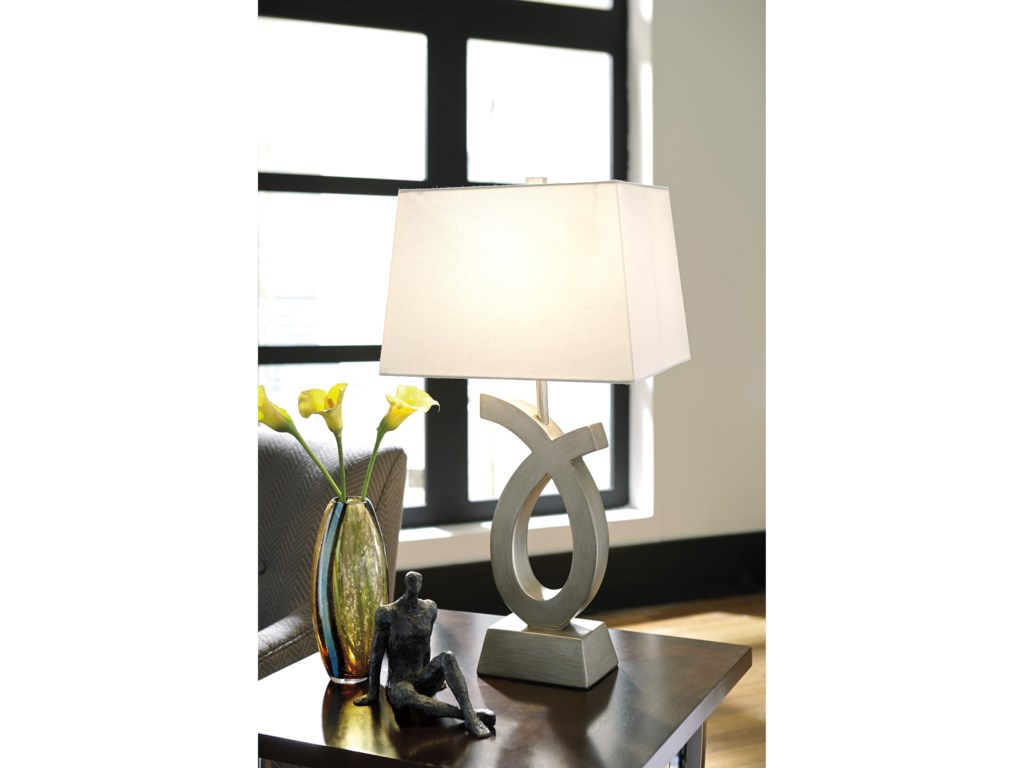 Signature Design by Ashley Lamps - ContemporarySet of 2 Amayeta Poly Table Lamps