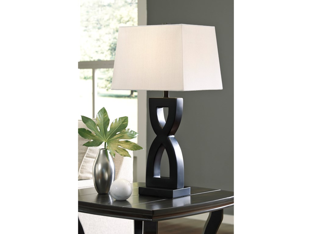 Signature Design by Ashley Lamps - ContemporarySet of 2 Amasi Poly Table Lamps