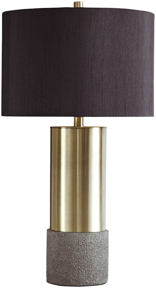 Signature Design by Ashley Lamps - Contemporary Set of 2 Jacek Metal Table Lamps