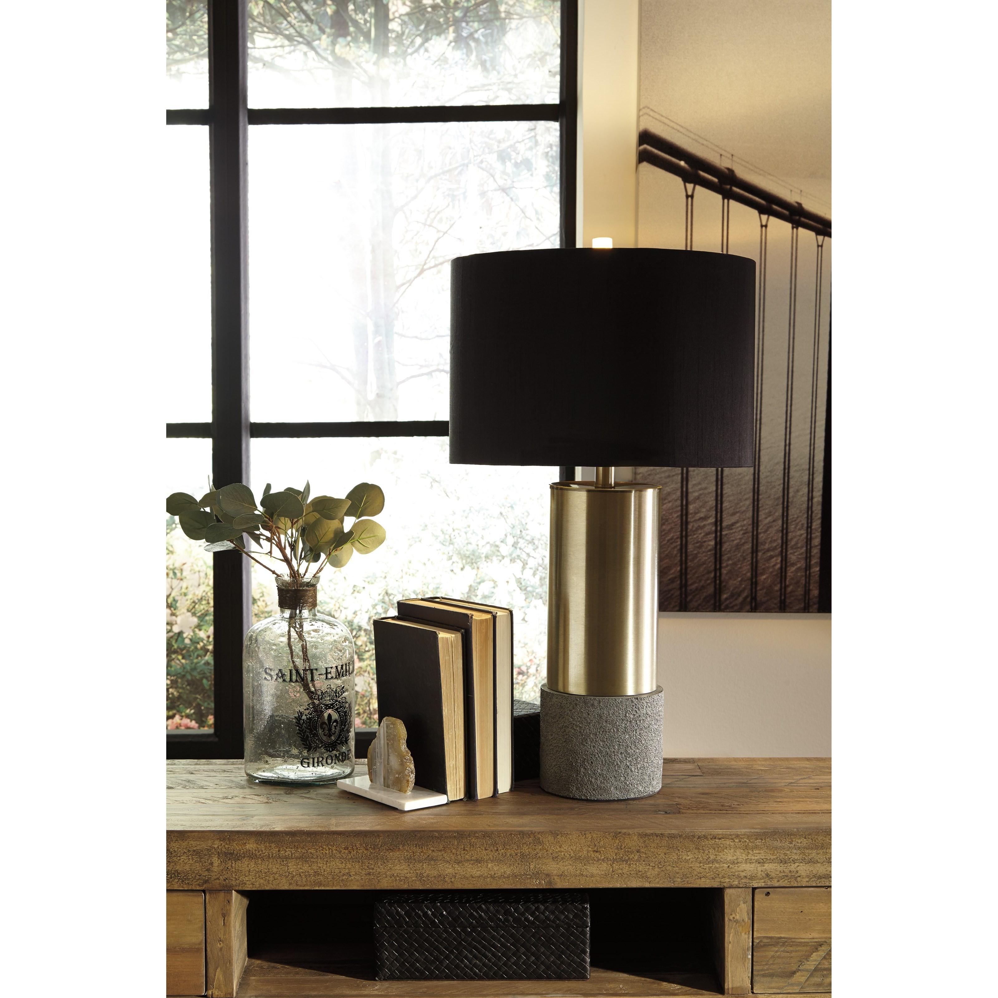 Black Signature Design by Ashley Jacek Table Lamp