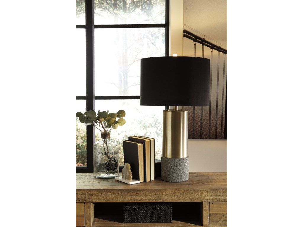 Signature Design by Ashley Lamps - ContemporarySet of 2 Jacek Metal Table Lamps