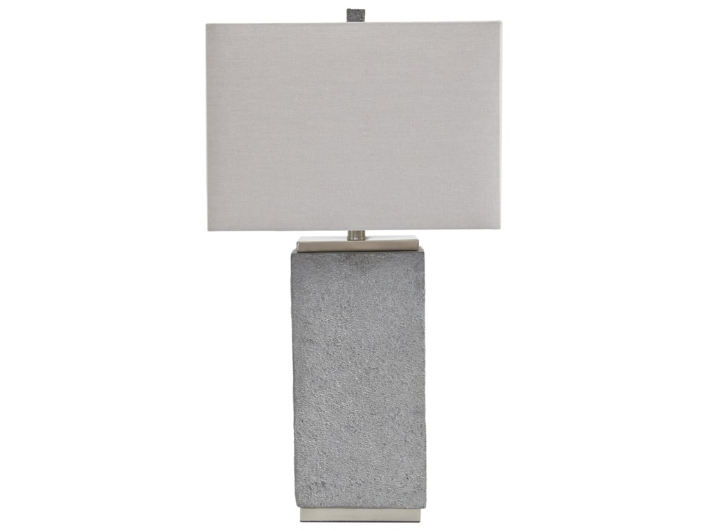 Signature Design by Ashley Lamps - ContemporarySet of 2 Amergin Faux Concrete Table Lamps