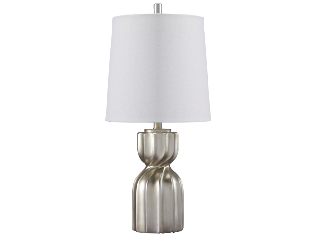 Trendz Lamps - ContemporaryMakalia Champagne Poly Table Lamp