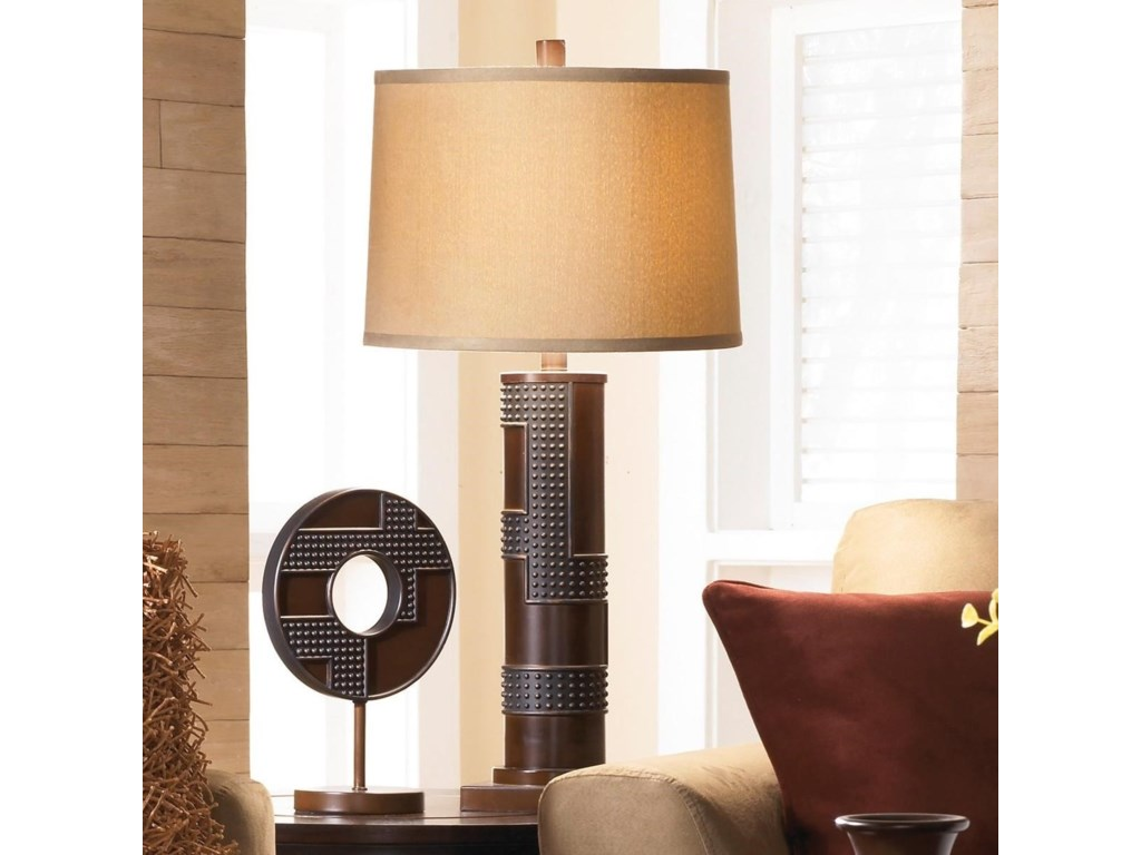 Signature Design by Ashley Lamps - ContemporarySet of 2 Oriel Poly Table Lamps