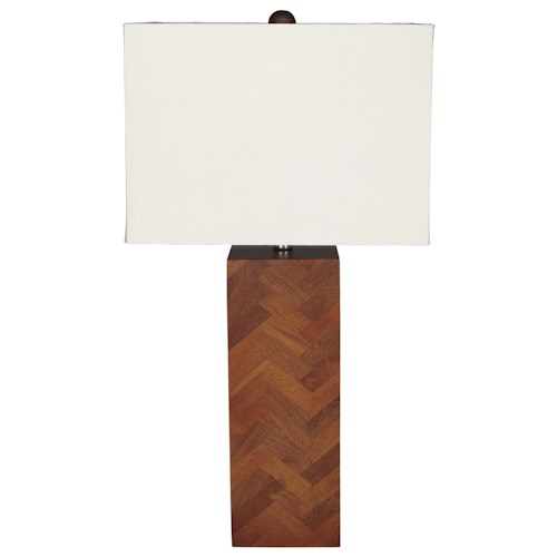 Signature Design by Ashley Lamps - Contemporary Tabeal Wood Table Lamp