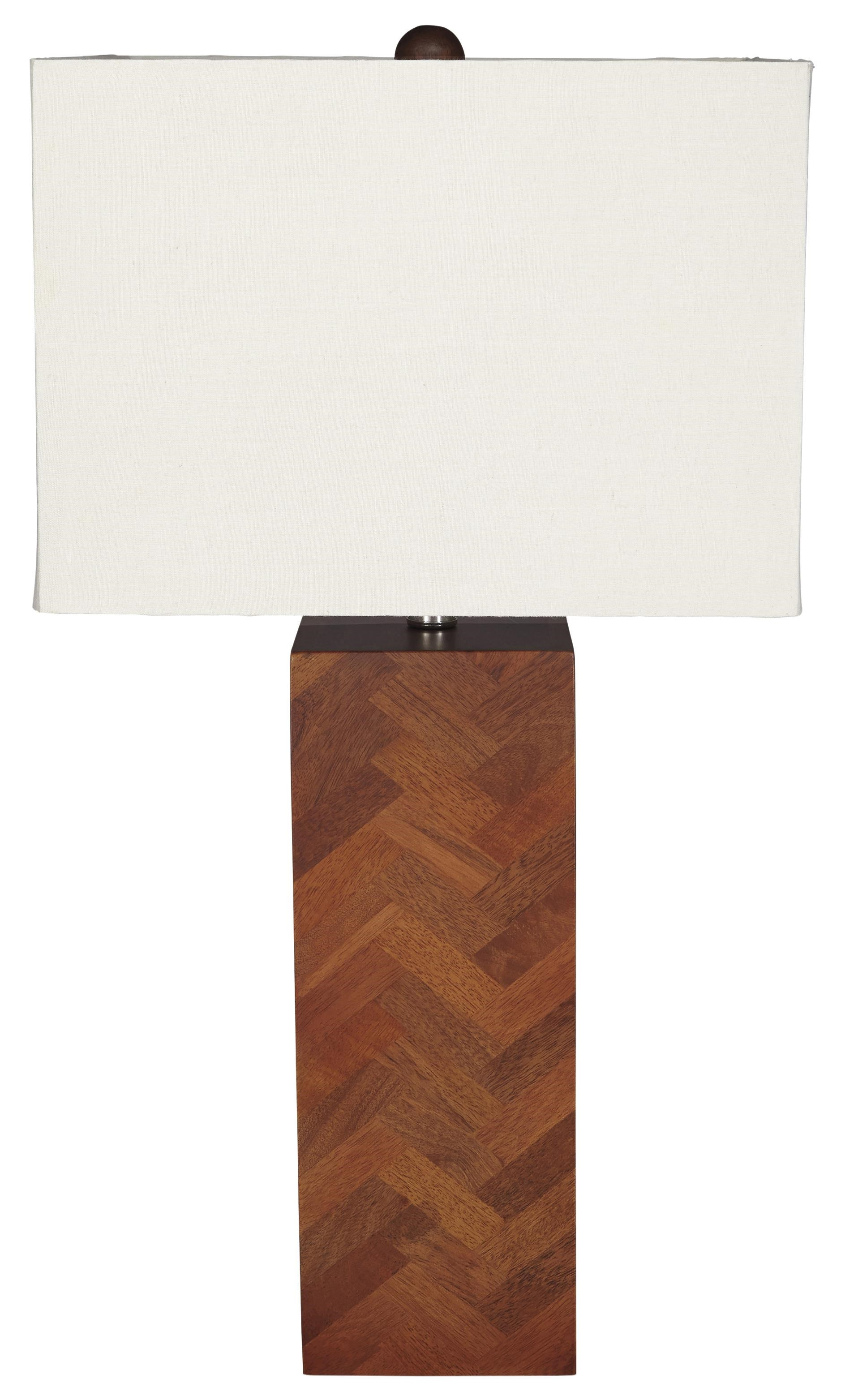 Signature Design By Ashley Lamps   ContemporaryTabeal Wood Table Lamp ...